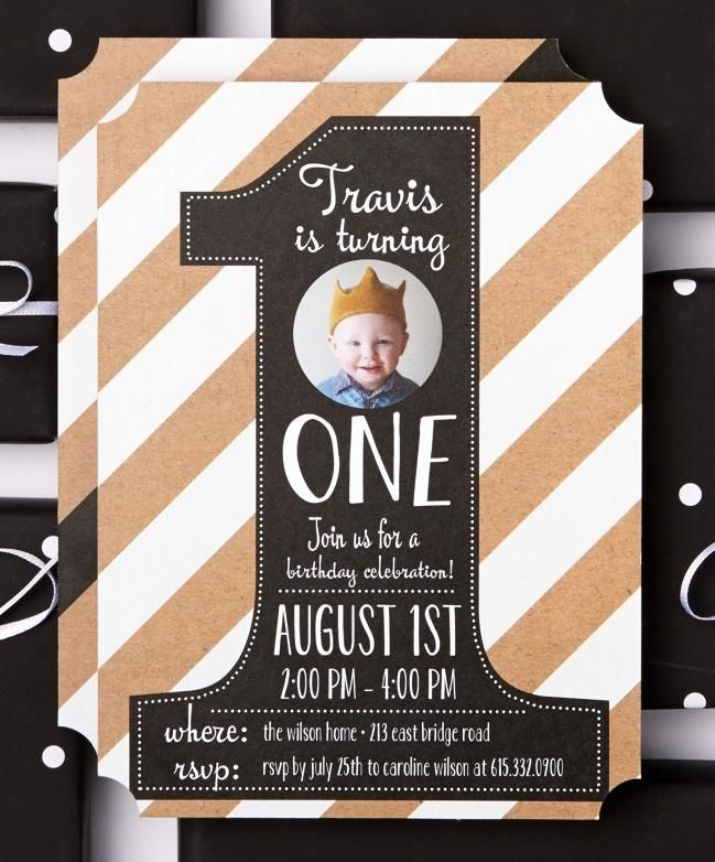 Celebrate Their Very Special First Year With Birthday Party Invitations