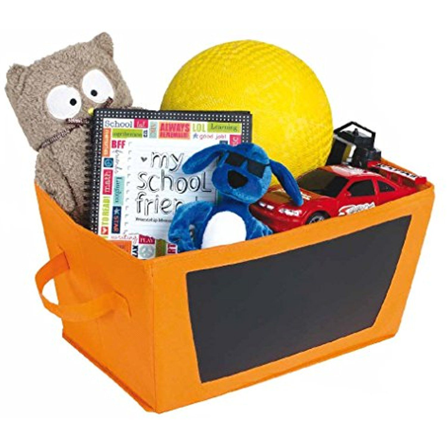 2 Pack - Halloween Storage Bin With Chalkboard Side - Orange - Kids Halloween Decorations