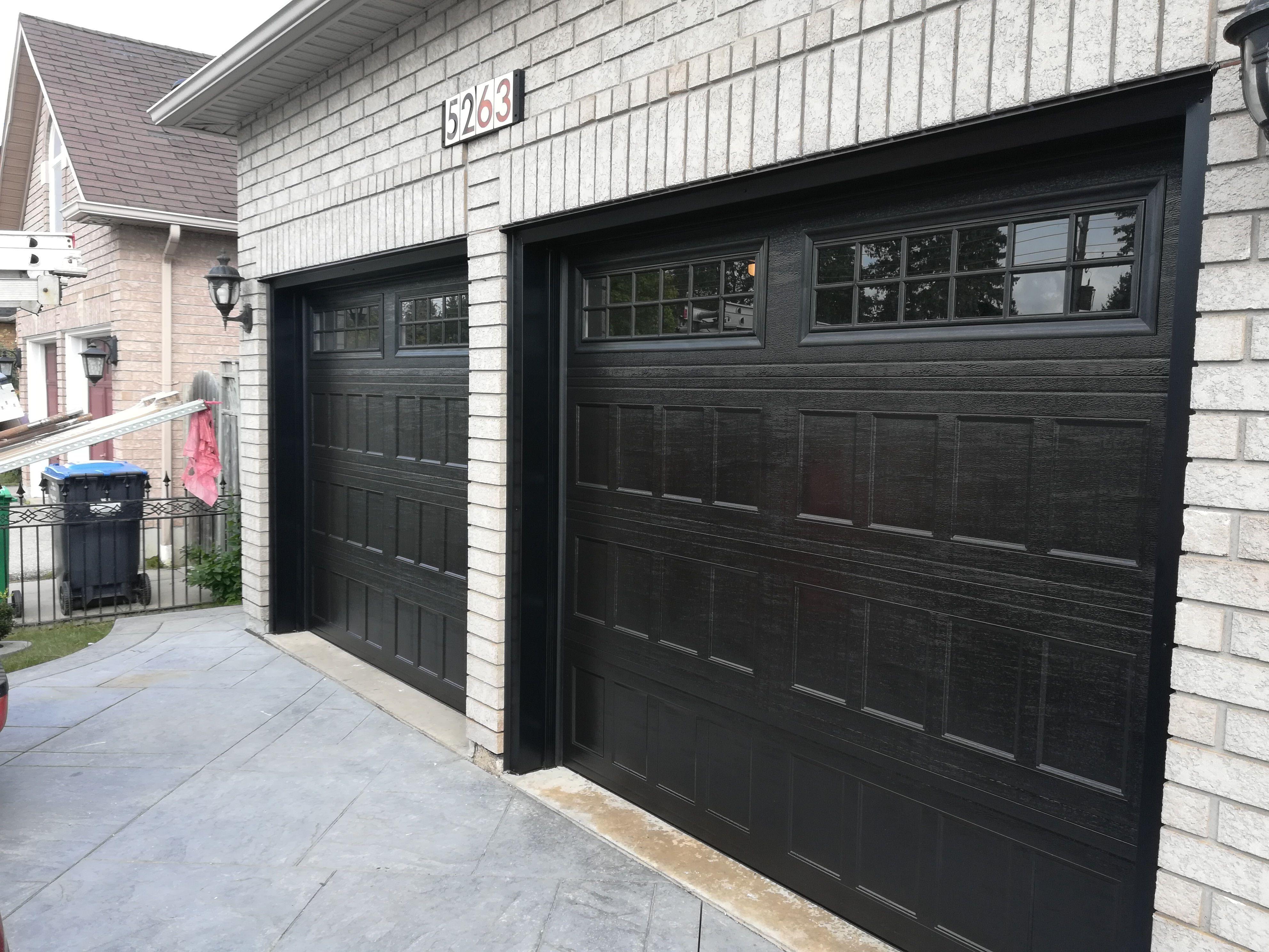 Elegant Sophisticated Black Garage Doors In 2020 Garage Door