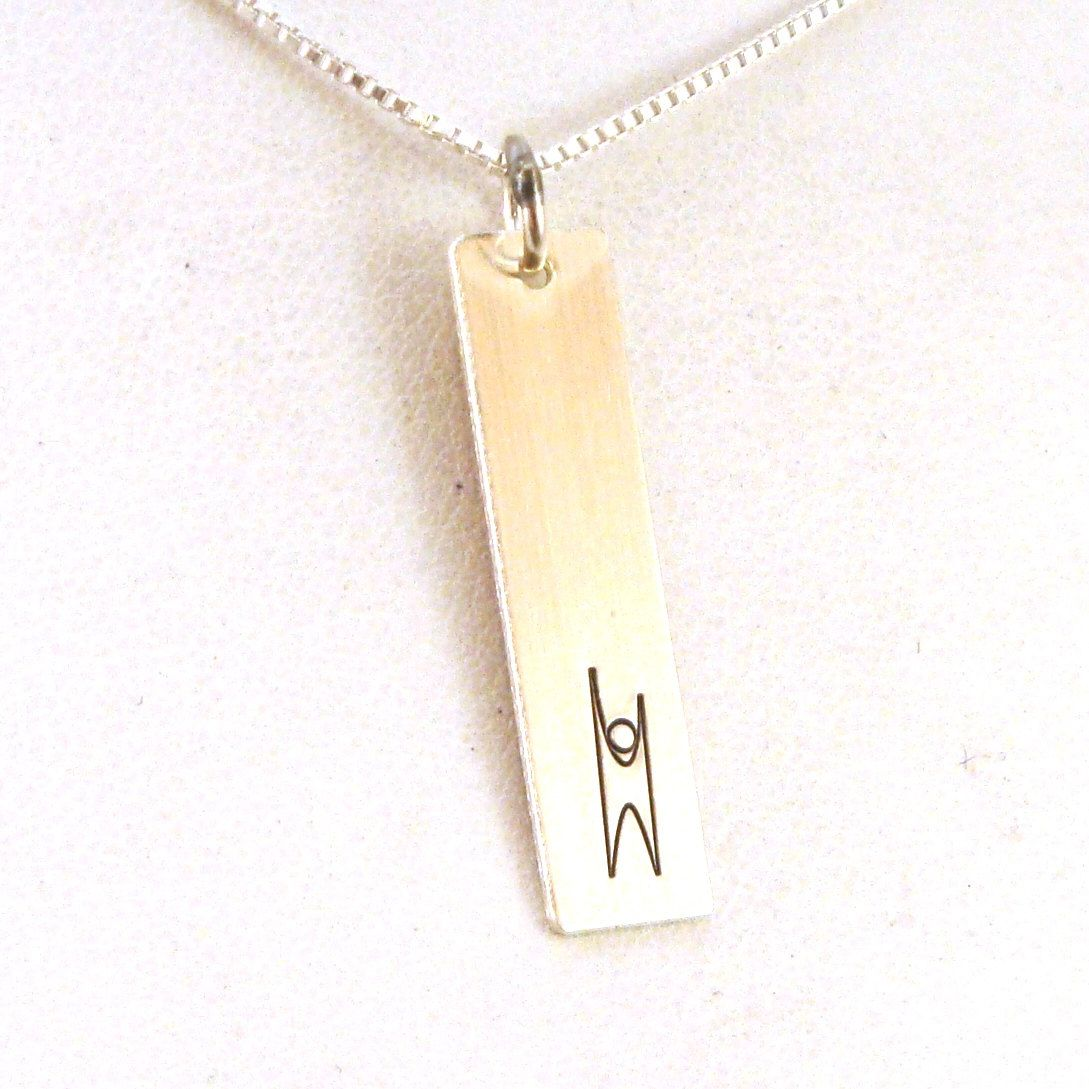 Humanist Necklace - Humanist Jewelry - Sterling Silver Jewelry - Humanist Rectangle Necklace by CrowStealsFire on Etsy https://www.etsy.com/listing/473743146/humanist-necklace-humanist-jewelry