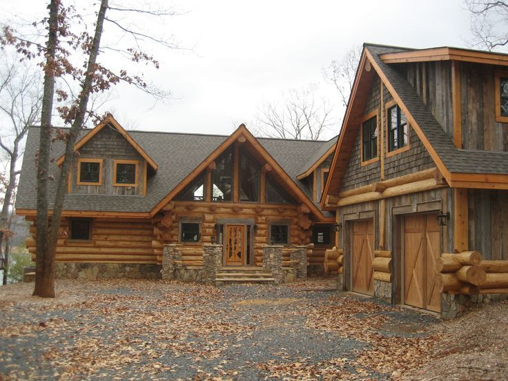 Image result for log home with metal red roof | Rustic Mountain ...