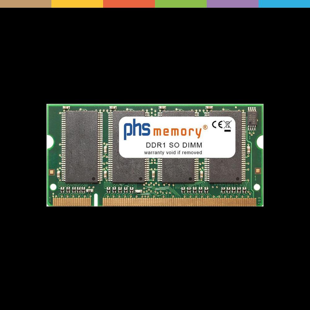PHS-memory 256MB RAM Speicher für Xerox Phaser 4510 B/N/DT/DX DDR1 SO DIMM 333MHz PC2700S (SP227259).