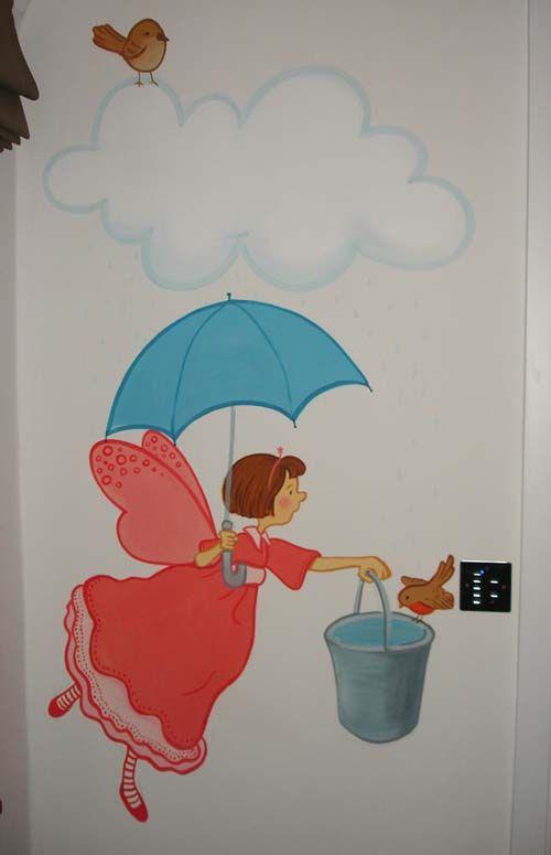 Inspire Murals fairy wall mural Kids roomsmurals Pinterest
