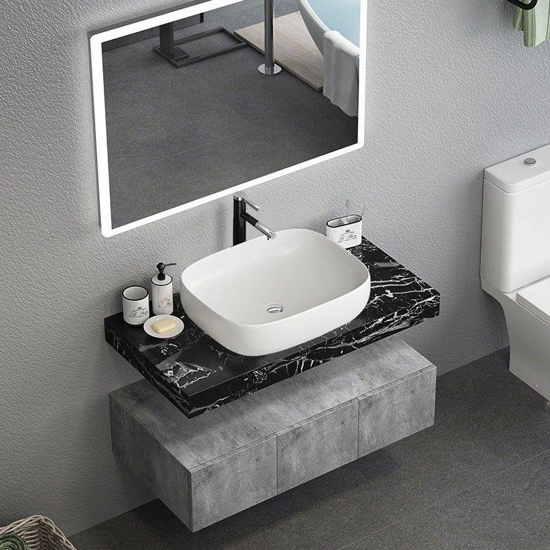 floating bathroom vanity set wall mount