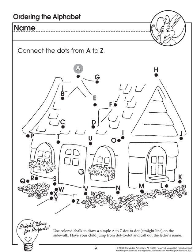 ordering the alphabet letter worksheet for preschoolers jumpstart school days preschool. Black Bedroom Furniture Sets. Home Design Ideas