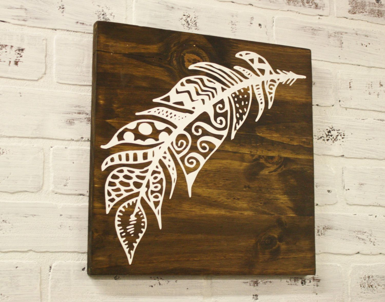 Free Spirited Feather Wood Sign | project ideas | Pinterest | Wood ...