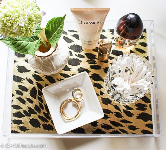 Acrylic Decorative Tray Chic Diy Acrylic Tray With Decorative Liner  Trays