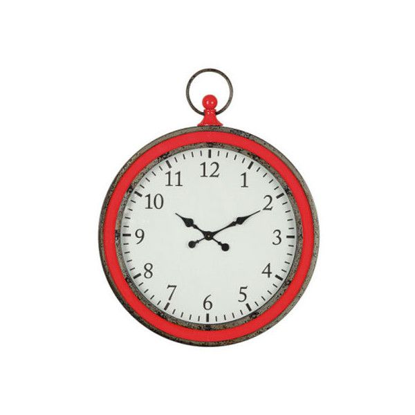 Dot & Bo Crimson Wall Timepiece ($139) ❤ liked on Polyvore featuring home, home decor and traditional home decor