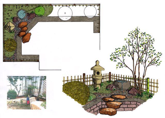 plan de jardin japonais jardin am nagement pinterest plan de jardin japonais et plans. Black Bedroom Furniture Sets. Home Design Ideas