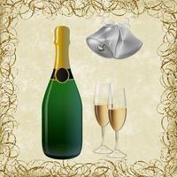 ¿Cuántas calorías hay en un vaso o en una botella de champán?