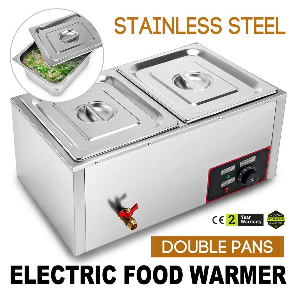 Ebay Sponsored New 110v 850w 2 Pan Steamer Bain Marie Buffet