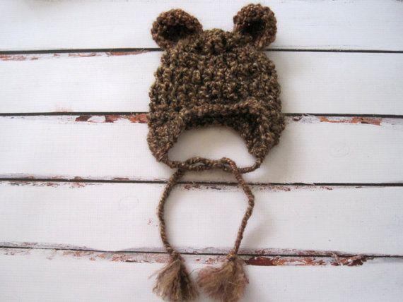 Crochet Baby Hat Crochet Bear Hat Baby Bear Hat by Monarchdancer