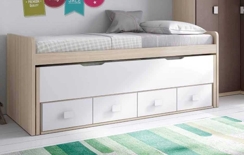 Dormitorio juvenil co12 compacto nido mueble juvenil for Muebles habitacion infantil nina