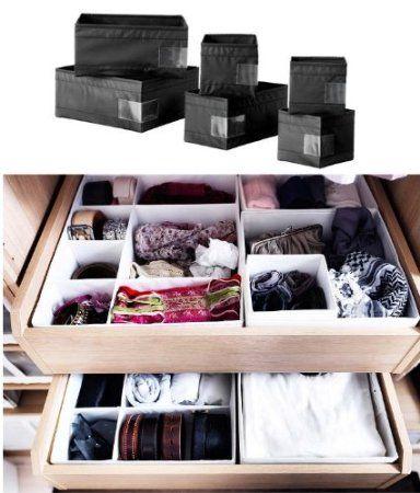 Amazon Com Ikea Skubb Storage Box Drawer Organizer Multiuse Set Of 6 Black Clothes Drawer Or Ikea Storage Boxes Ikea Storage Clothes Drawer Organization