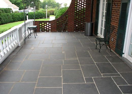 Buckingham® Slate Floor, Interior/Exterior Gauged Slate Tile ...