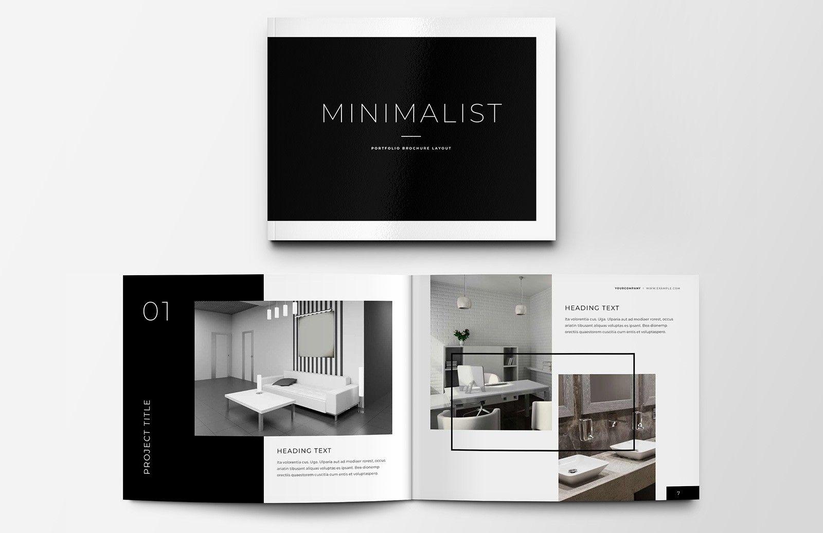 Minimalist Portfolio Brochure Layout Portfolio Design Layout Interior Design Portfolio Layout Architecture Portfolio Layout