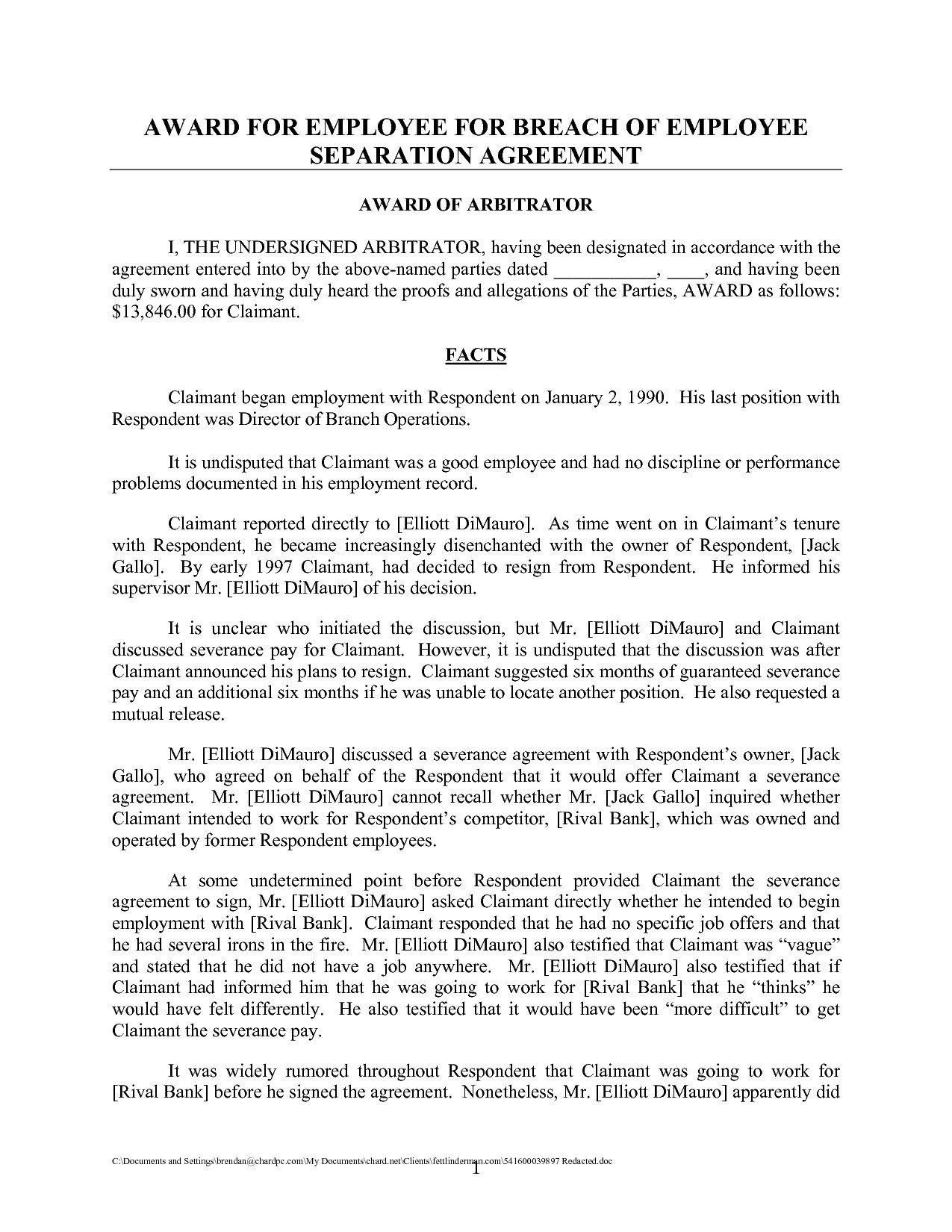 Sample Uncontested Divorce Agreement Quick Best S Of