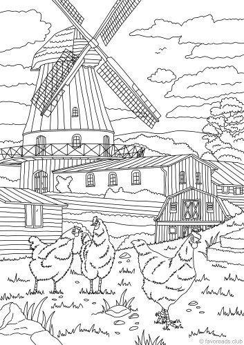 Country Mill | Pencil drowins | Pinterest | Colores, Pintar y Dibujos