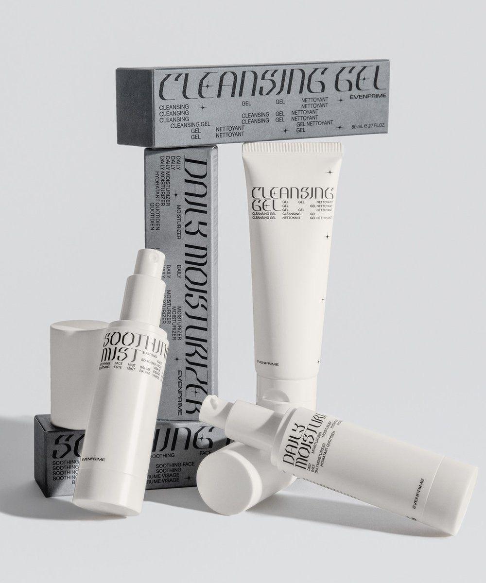 Dark Side Of Typography Designeverywhere Evenprime Skin Care Kit Skincare Packaging K Beauty Routine