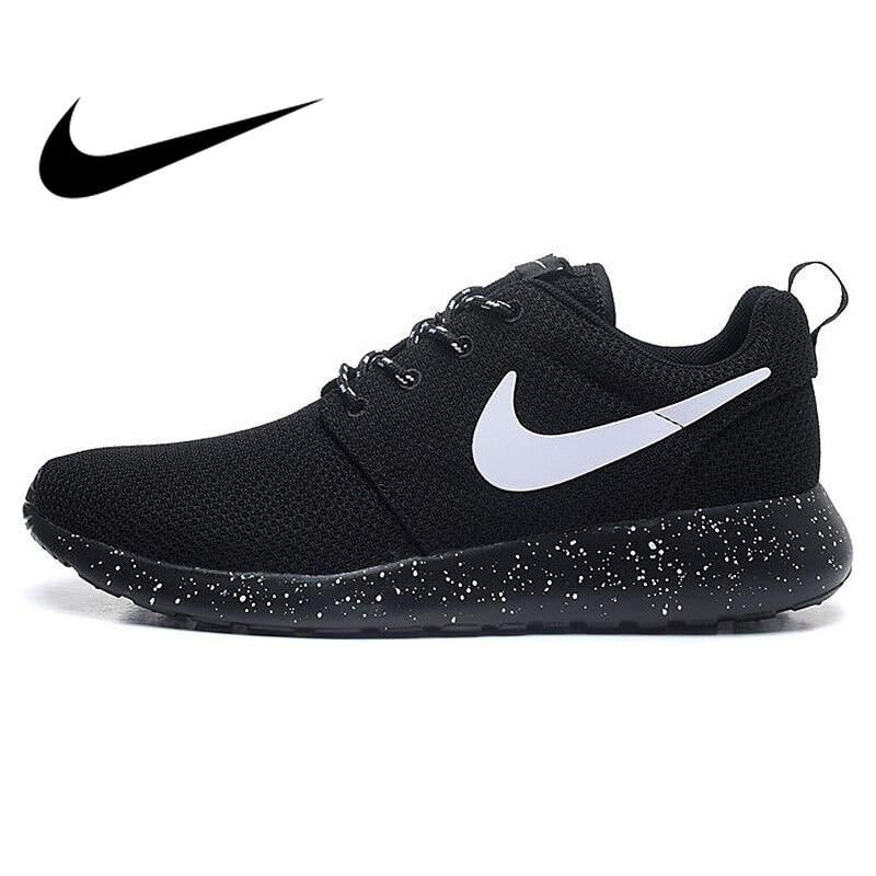 56932411c7158 Original Authentic NIKE ROSHE RUN Men s Running Shoes Sport Outdoor Sneakers  Low Top Mesh Breathable Brand