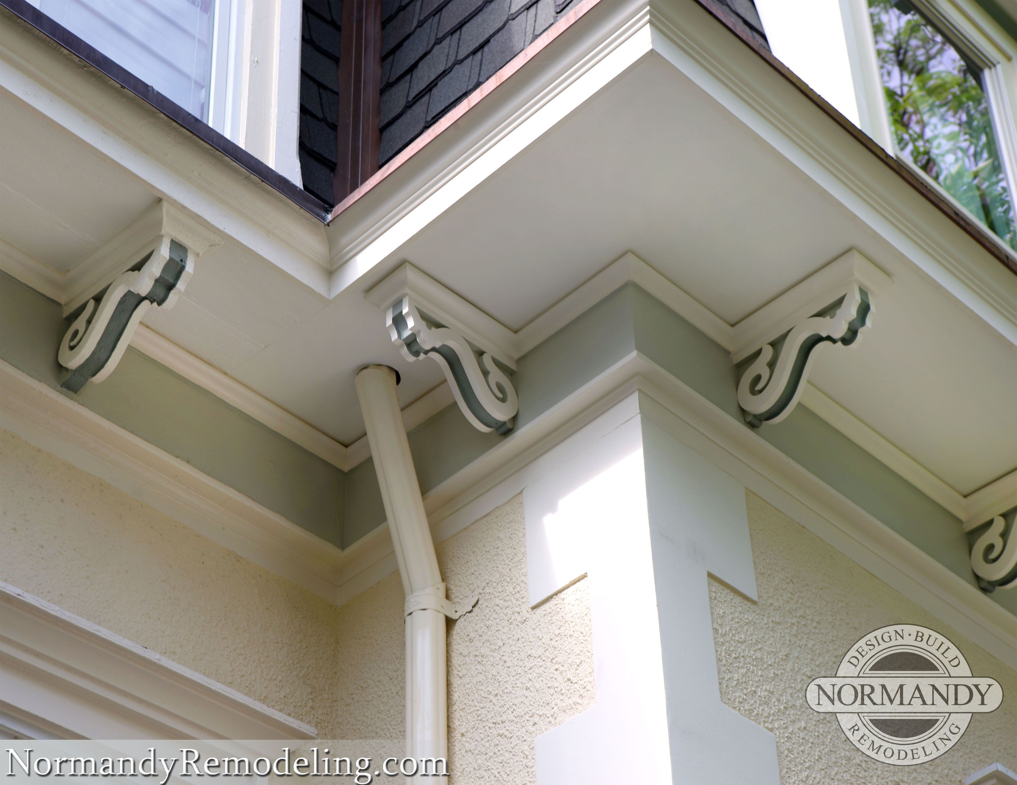 Close Up Of Corbels On Victorian Style Home