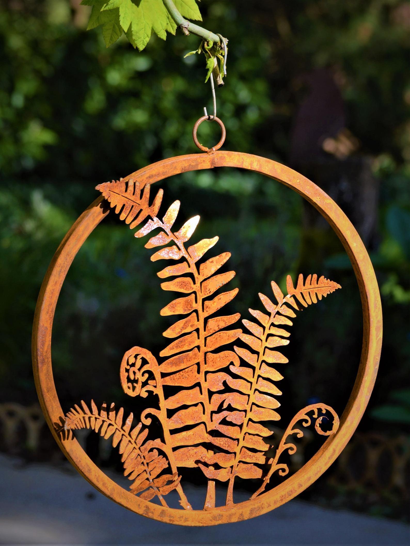 Fern ring fern wall art fern frond woodland home decor