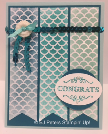 Simply Wonderful, Irresistibly Yours Specialty DSP, Wide Oval punch, Bermuda Bay Sequin Trim - Stampers Dozen Blog Hop SAB