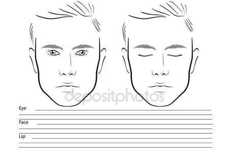 Download Face Chart Makeup Artist Blank Template Vector Illustration Stock Illustration 133511246 Makeup Face Charts Face Chart Face Template