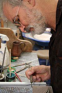 Colin Johnson at work