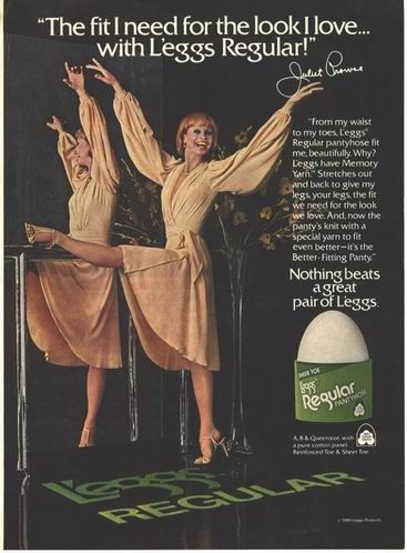 e3382fbd3c Pantyhose sold in egg-shaped plastic containers, with the tagline