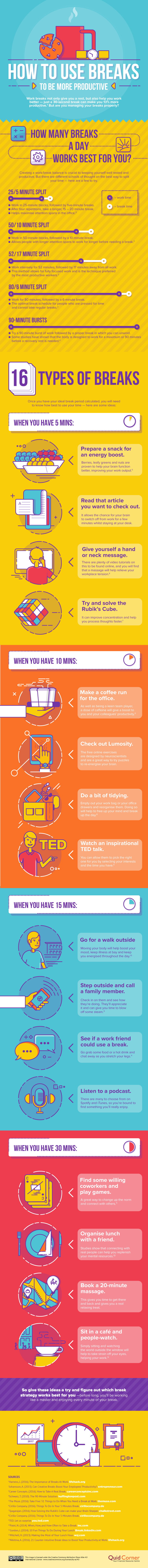How to Use Breaks to Be More Productive #Infographic