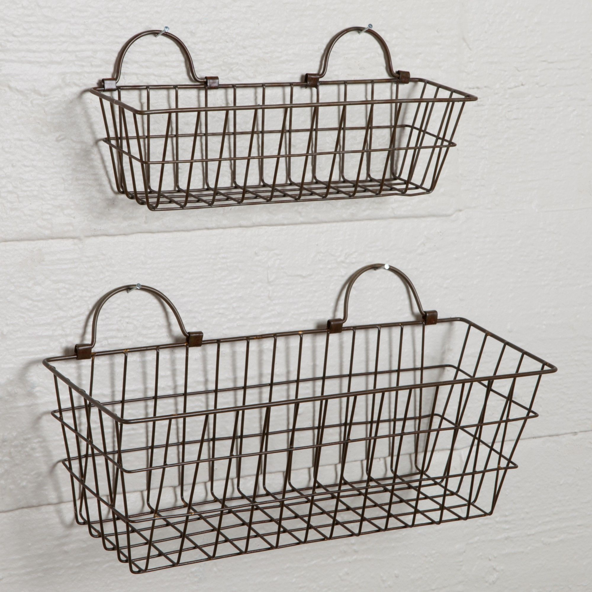 Wire Wall Hanging Baskets Fine Set Of Small Sturbridge Yankee Work