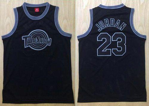 665014d477e ... Space Jam Tune Squad 23 Michael Jordan Black Stitched Basketball Jersey  ...
