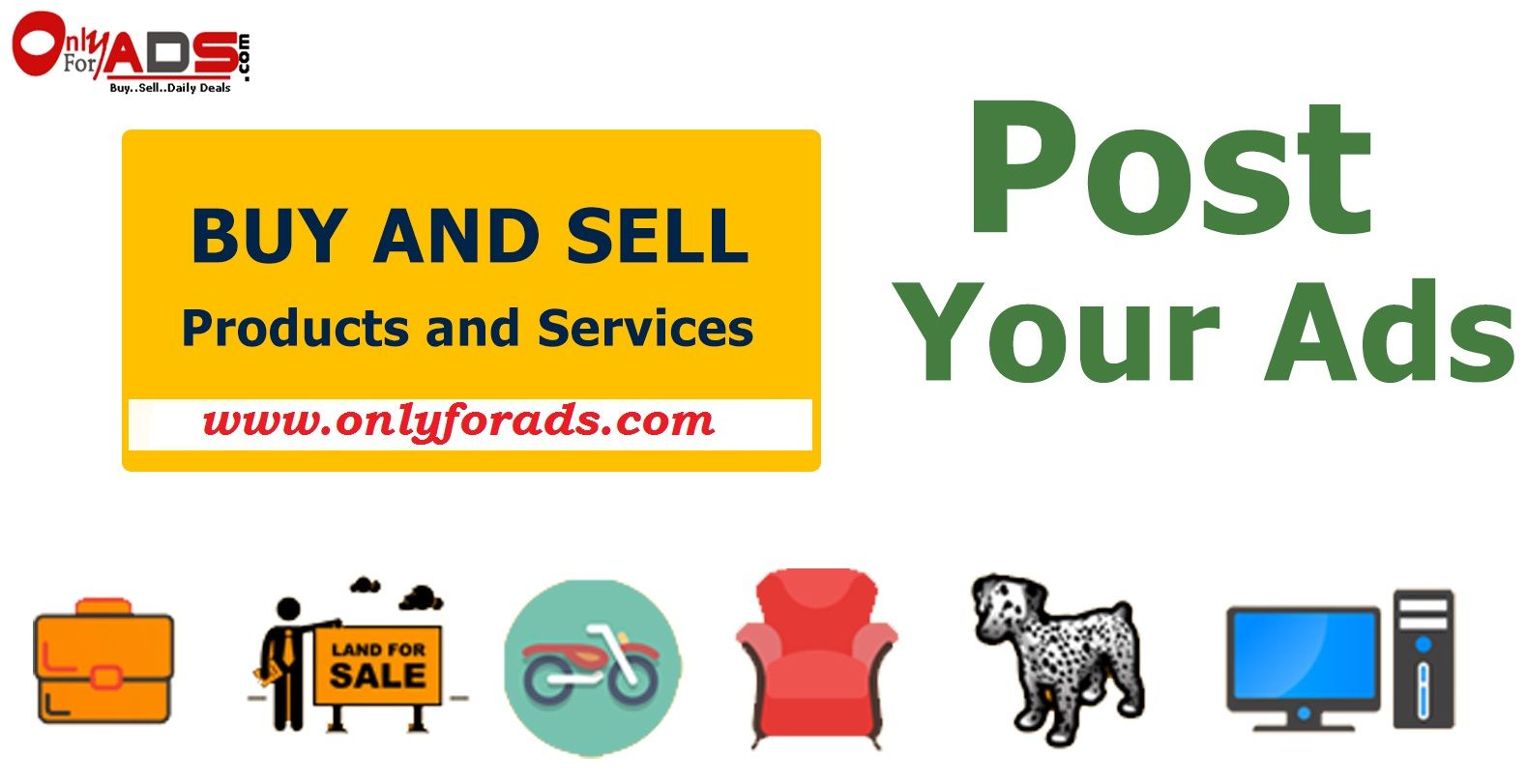 At #OnlyForAds you can post your classified #ads without any