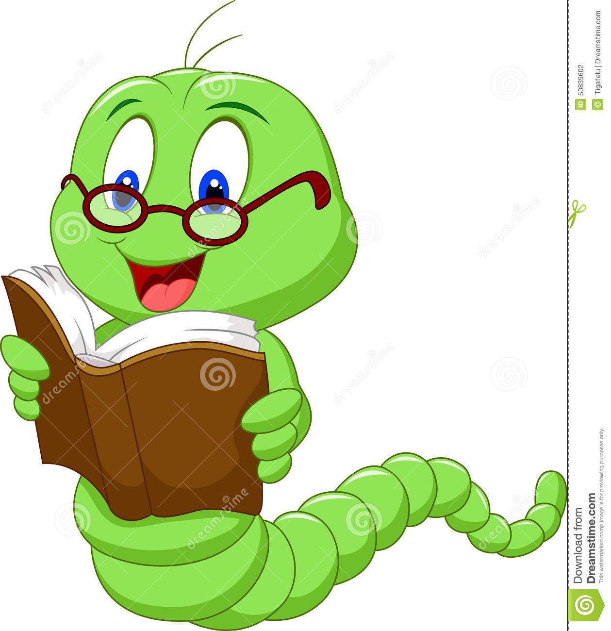 Worm Clipart Reading 1173 Cartoon Student Cartoon