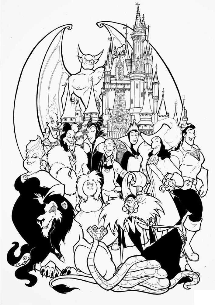 Disney Villain Coloring Pages Printable Shelter Disney Coloring Pages Cartoon Coloring Pages Disney Colors