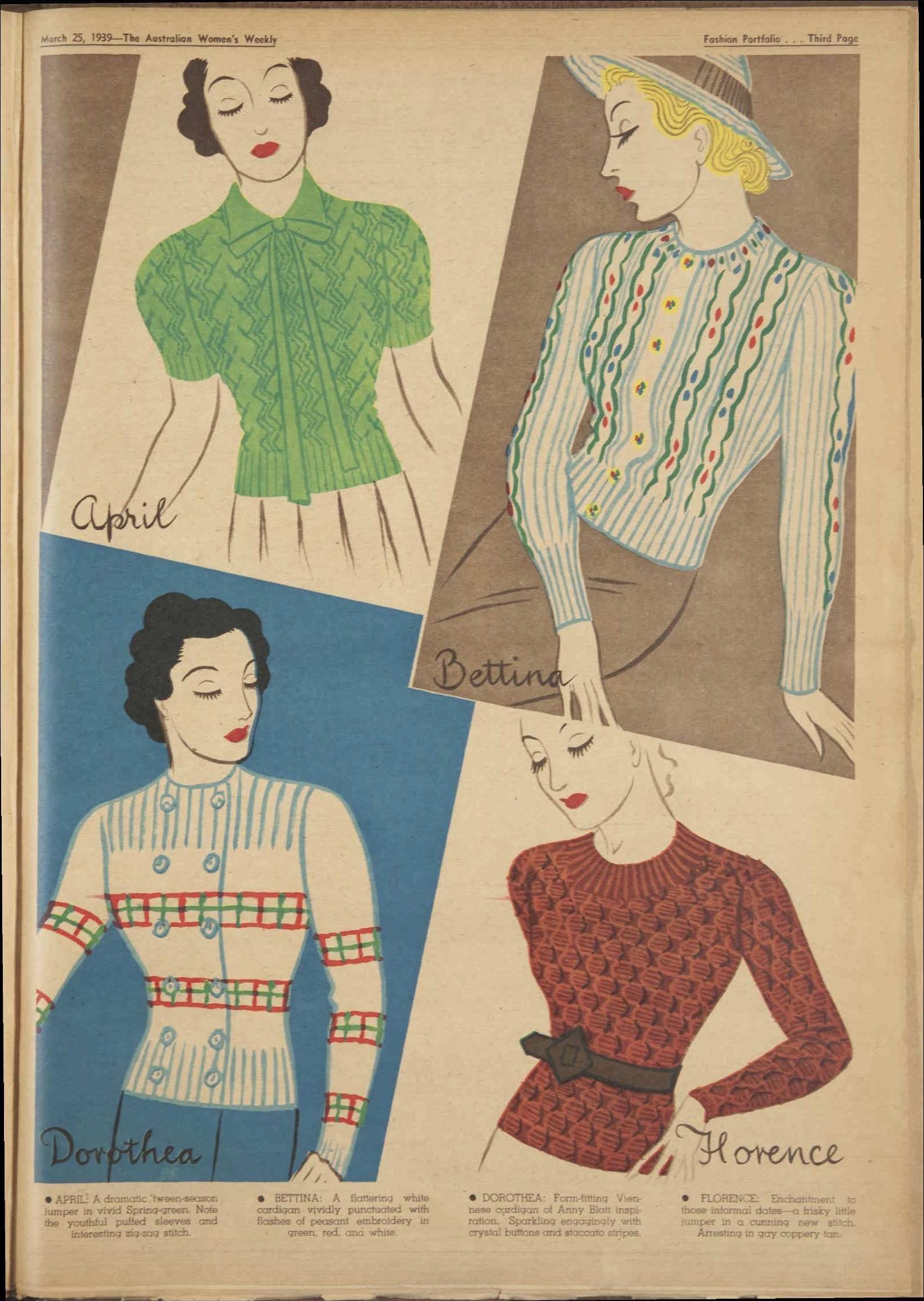 Issue: 25 Mar 1939 - The Australian Women\'s Wee... | 1939 {fashion ...