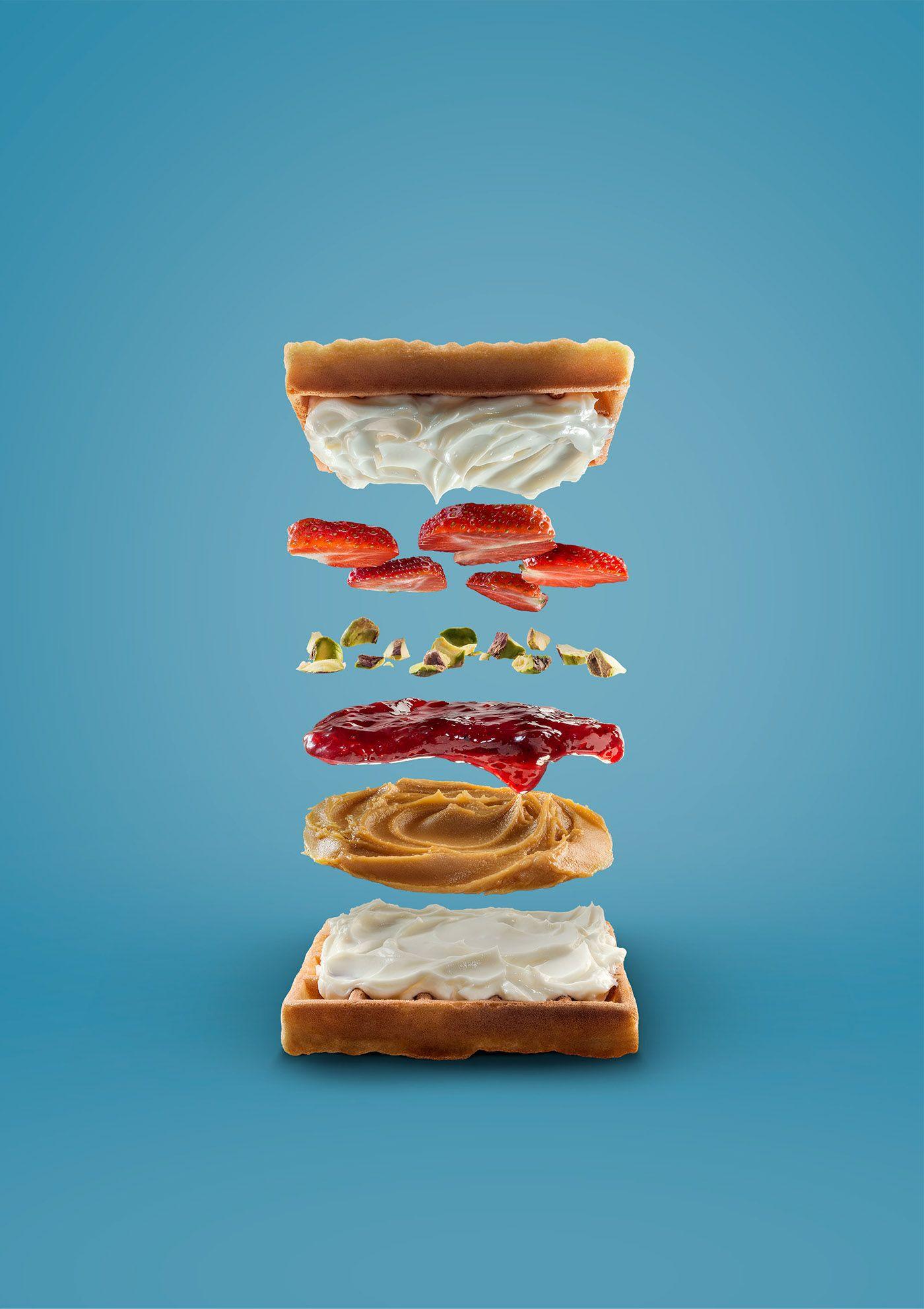 Sandwiches deconstructed on Behance | Food Photo & 3D | Pinterest ...