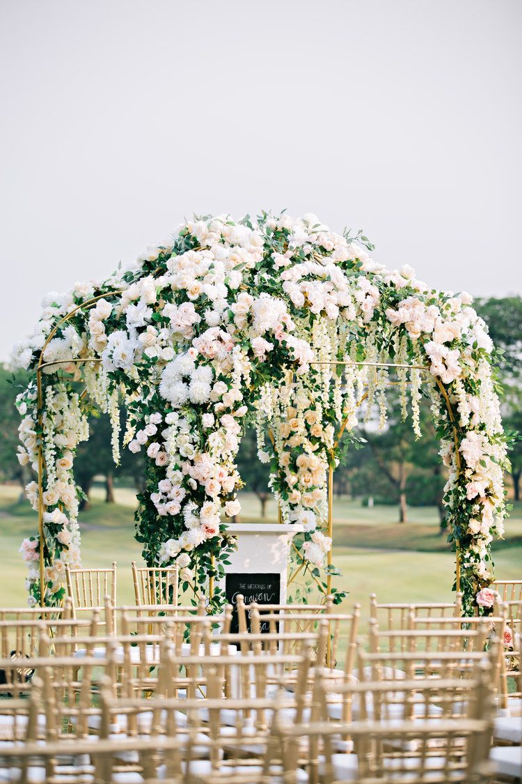 Wedding decoration details wedding pews wedding blush and diy wedding day holy matrimony decoration wedding decoration wedding details christian wedding ideas gold arch wedding arbor junglespirit Gallery