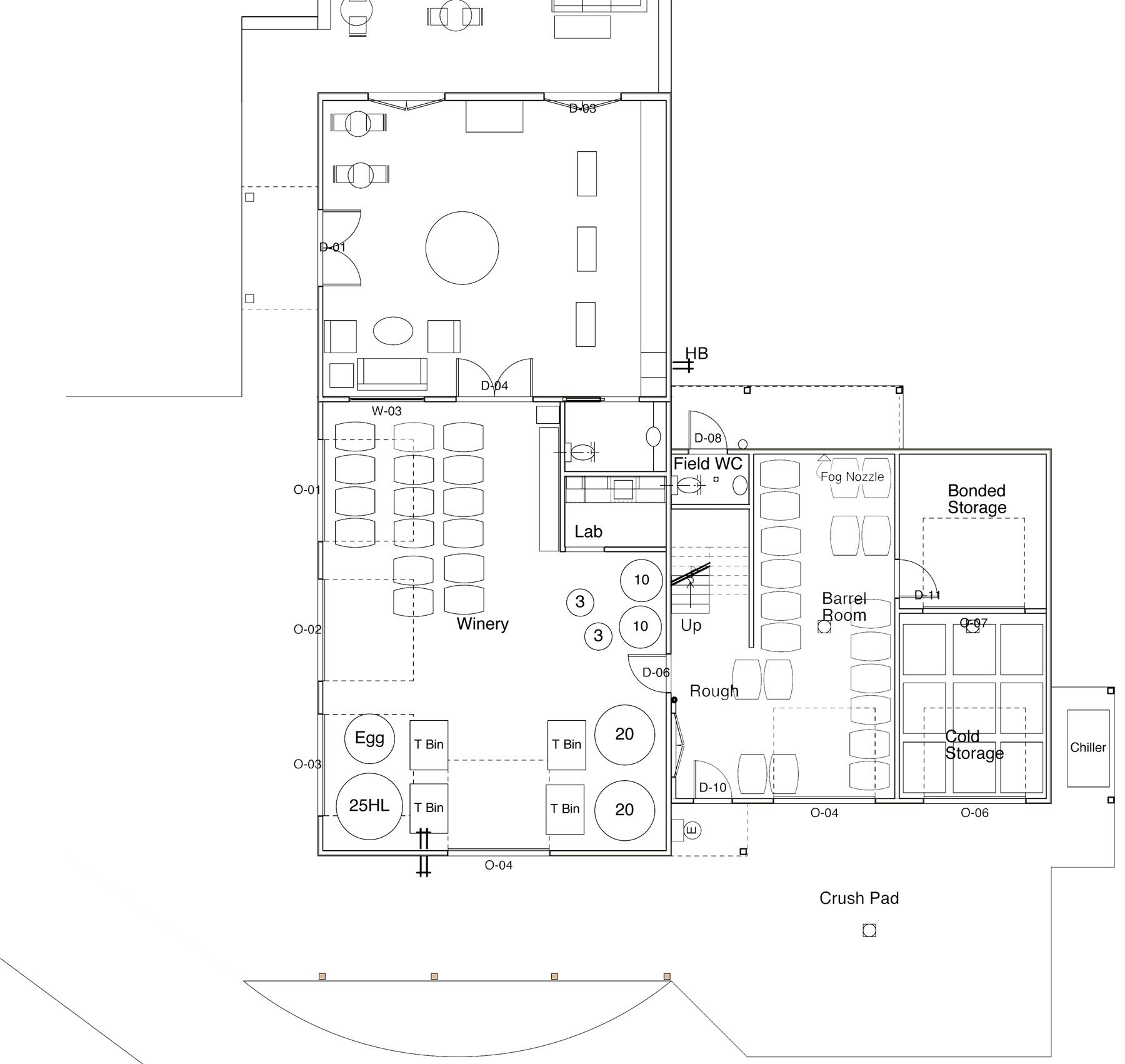 Winery Floor Plan Barrel Storage Unnecessary Wineries Architecture Winery Building Layout