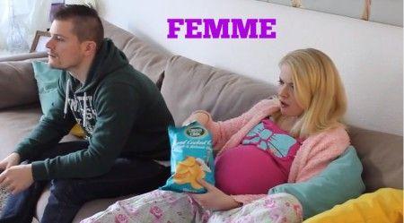 Een humoristische kijk op het papa en mama zijn! Video voor Femme: Help ik ben zwanger!
