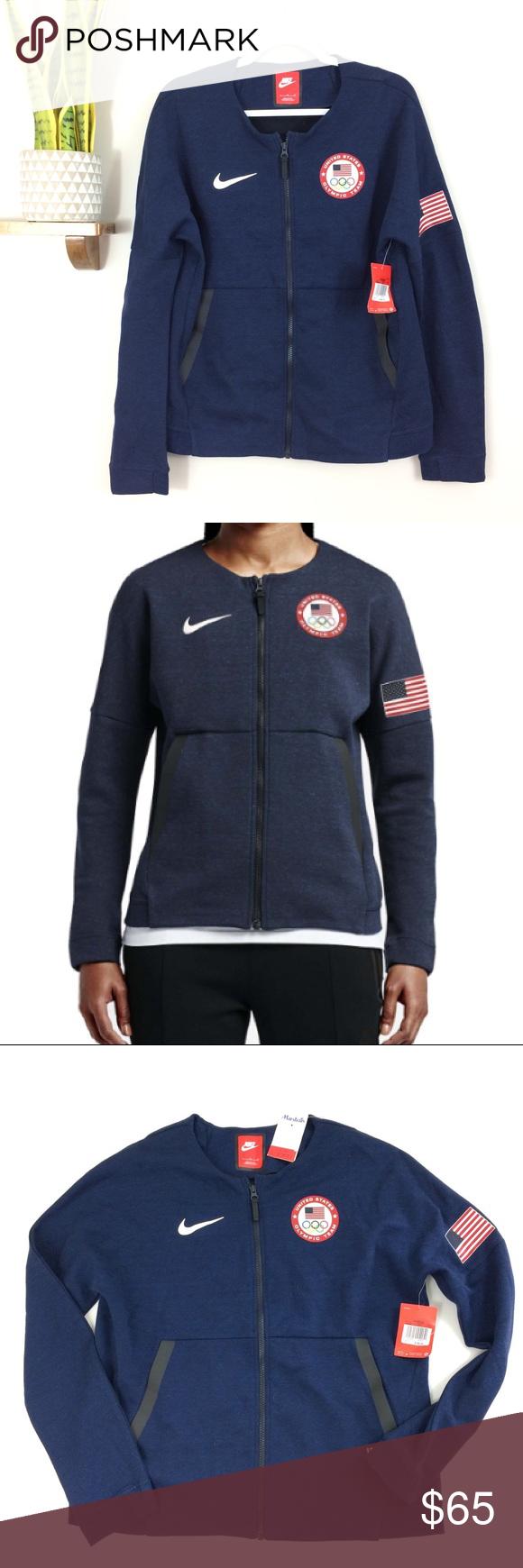 "Nike Tech USA Olympic Full Zip Jacket Navy Nike Tech olympic jacket. Navy  blue color. Full zip style. See measurements below. V ▫️underarm to  underarm 22"" ... fc42e791bedb"