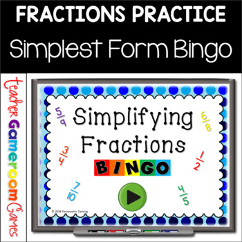 simplest form game  Simplest Form Bingo Powerpoint Game in 7 | Powerpoint ...
