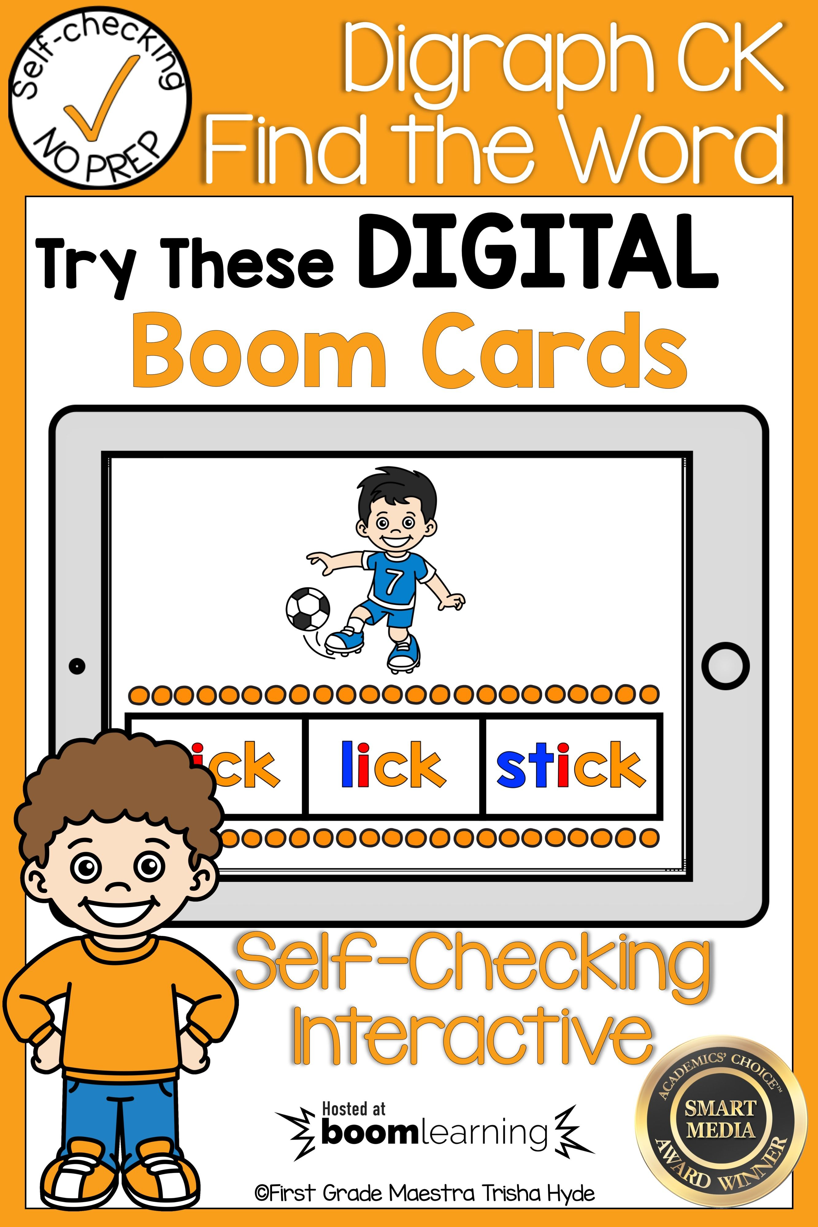 Boom Cards Digraph Ck Find The Word