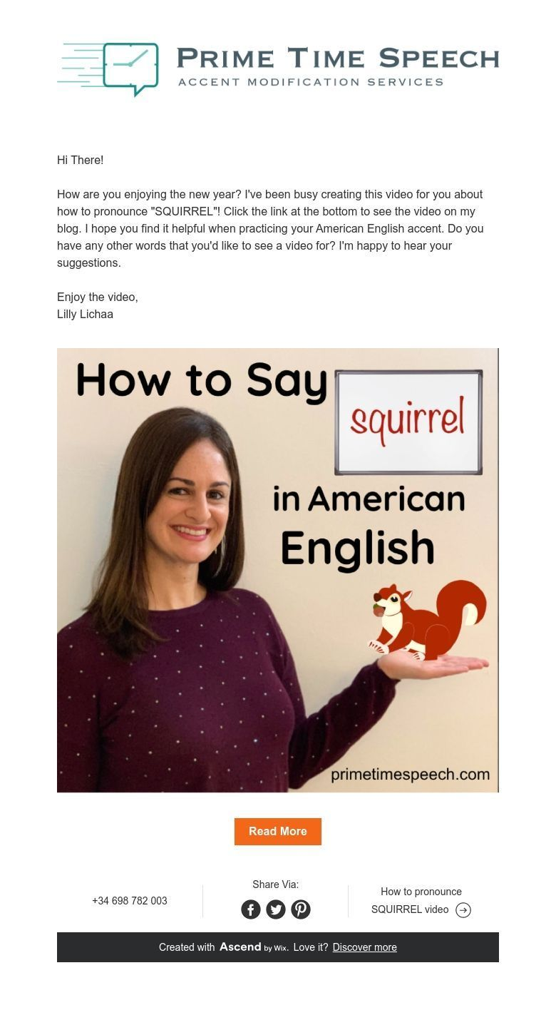 Hi There How Are You Enjoying The New Year I Ve Been Busy Creating This Video For You About How To Pronounce Squirrel Click The Link At The Bottom To See T