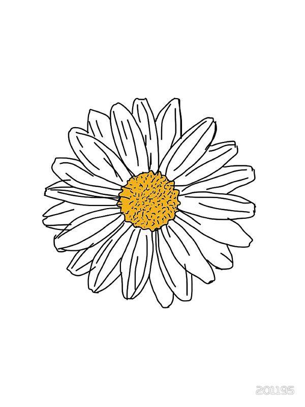 Daisy   Sticker   Daisy painting, Daisy drawing, Tumblr ...