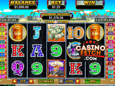http://bit.ly/1KcE4X1  Independent Texas Tycoon Video Slots Game Reviews At USA Online Casinos. Win Real Cash Money Playing Texas Tycoon RTG Video Slots Games At US Online Casinos