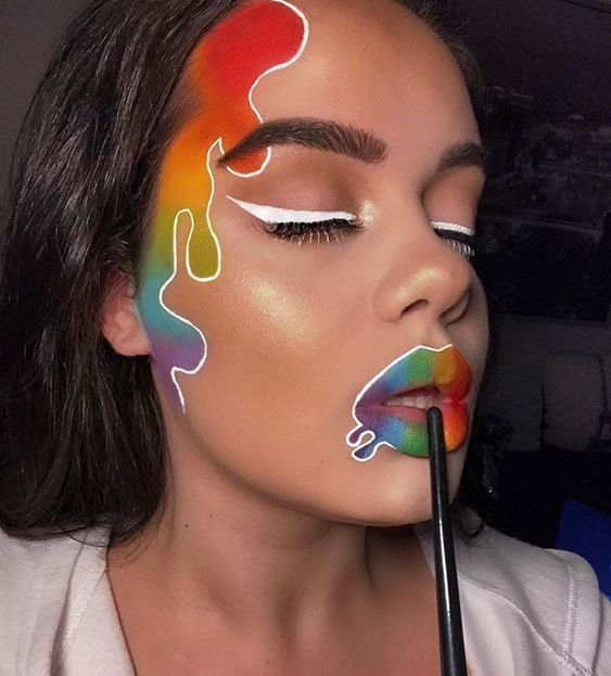 Makeup Ideas to Celebrate Pride Month #makeupart