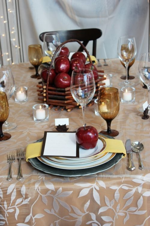 Fall inspired tablescape
