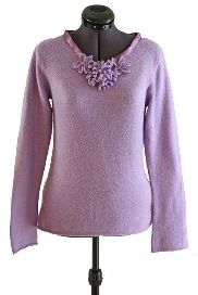 Tutorial: Violet Flowers embellished sweater refashion